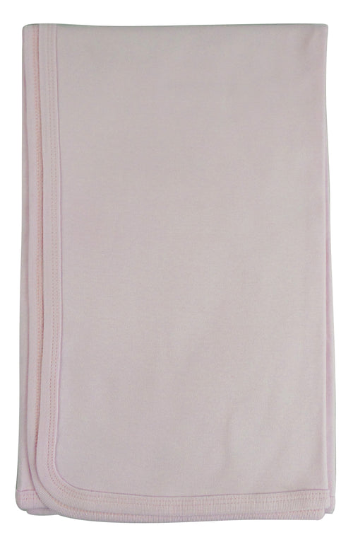 Bambini Pink Receiving Blanket