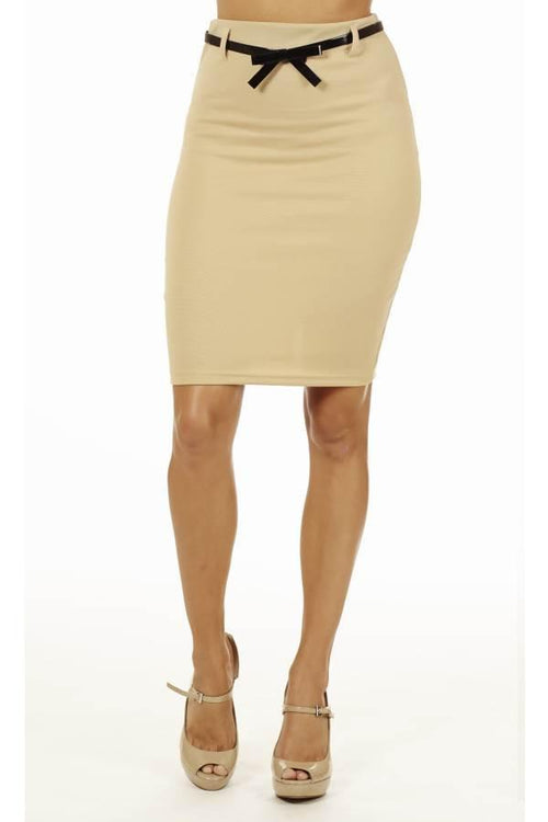 Sand High Pencil Skirt - Home Goods Galore