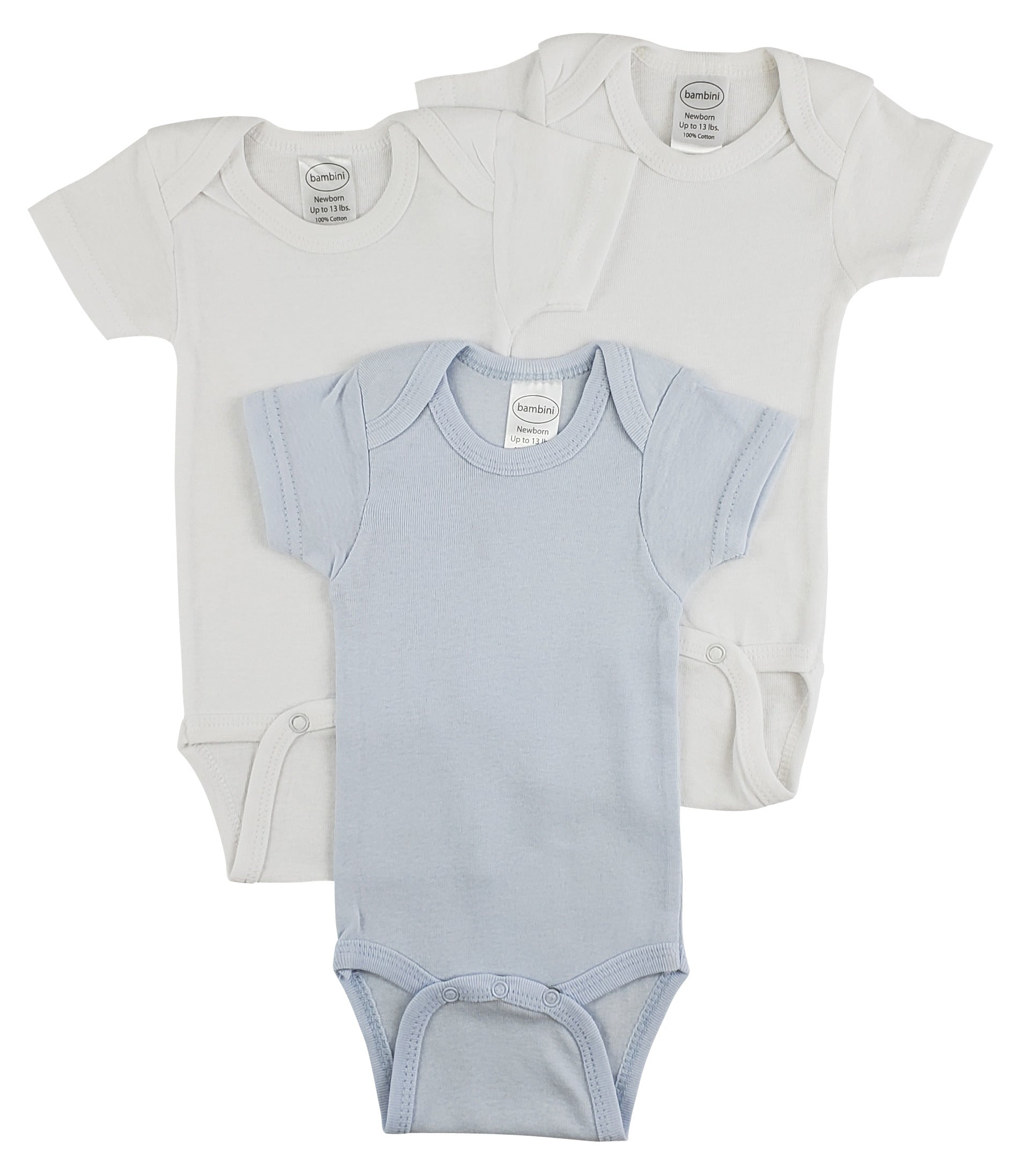 Bambini Short Sleeve One Piece 3 Pack