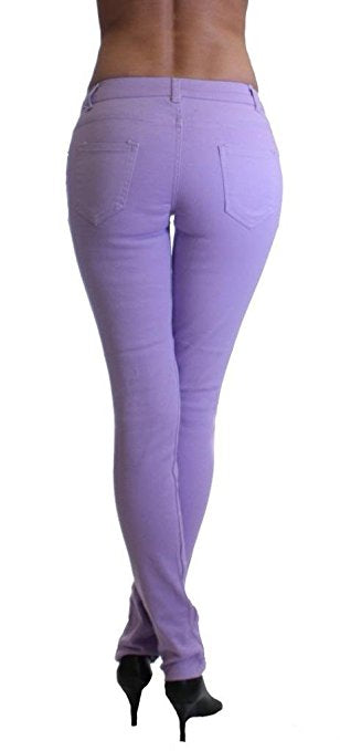 Lilac Colored Denim Skinny Jeans - Home Goods Galore