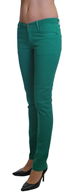Green Colored Denim Skinny Jeans - Home Goods Galore