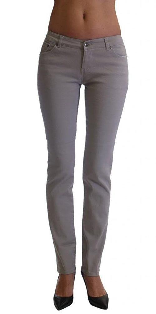 Grey Colored Denim Skinny Jeans