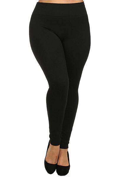 Women's Plus Size Fleece Lined Leggings - Home Goods Galore