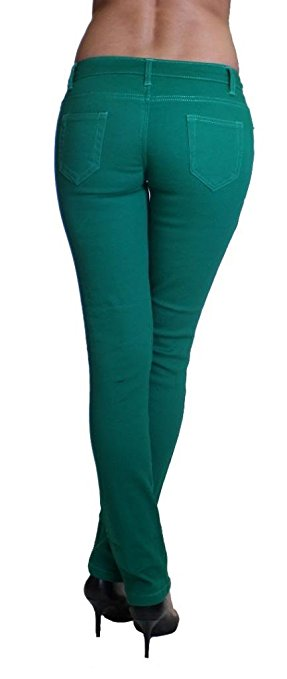 Green Colored Denim Skinny Jeans