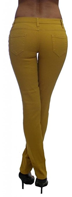 Mustard Colored Denim Skinny Jeans - Home Goods Galore