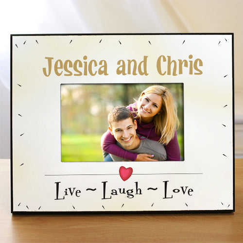 Personalized Live Laugh Love Printed Frame - Home Goods Galore