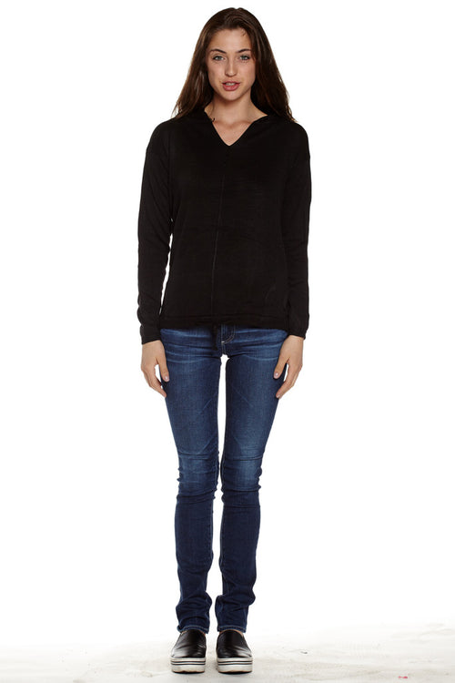 Hooded Pullover Cotton Sweater - Home Goods Galore