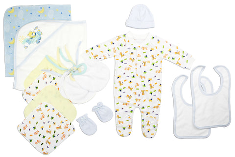 Bambini Newborn Baby Girls 5 Pc Layette Baby Shower Gift Set