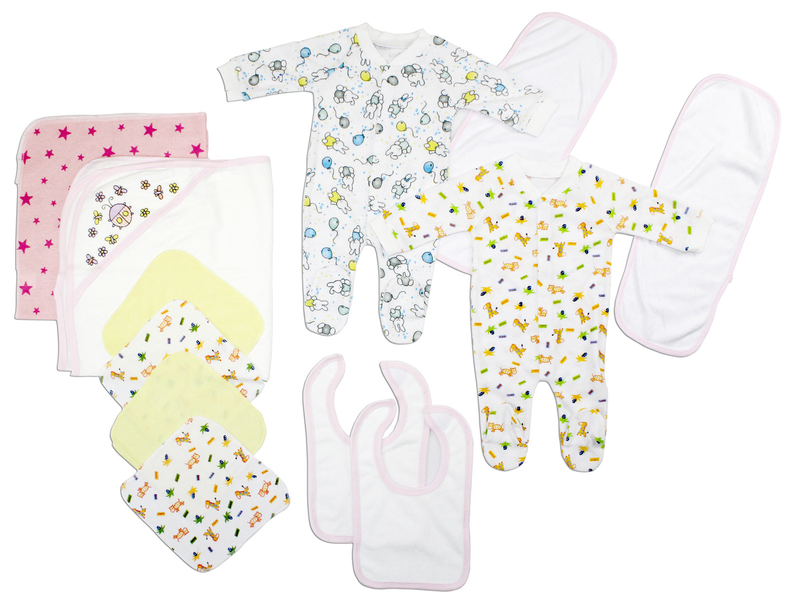 Bambini Newborn Baby Girls 12 Pc Layette Baby Shower Gift Set