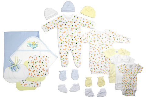 Bambini Newborn Baby Girls 15 Pc Layette Baby Shower Gift Set