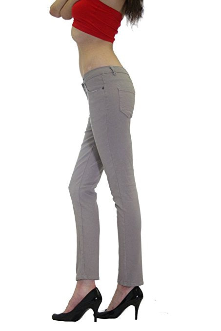 Grey Colored Denim Skinny Jeans - Home Goods Galore