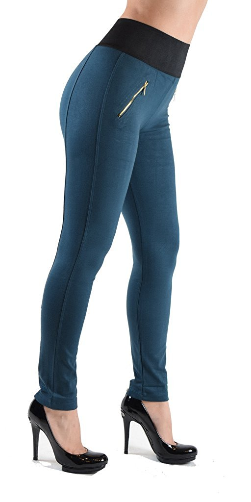 High Waist Zipper Pocket Jeggings