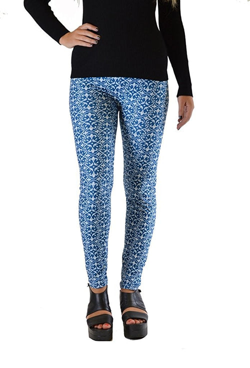 Blue Print Plus Size Leggings - Home Goods Galore