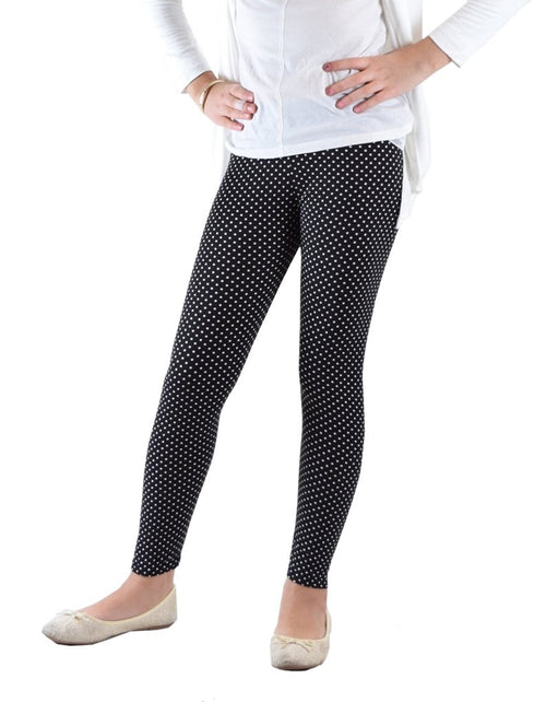Girls Fun Printed Leggings-Monochromatic Dots - Home Goods Galore