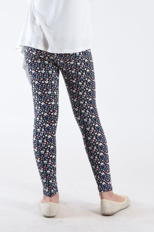 Girls Fun Printed Leggings- Polychromatic Abstract - Home Goods Galore