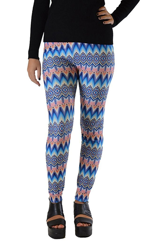Blue Waves Plus Size Leggings - Home Goods Galore
