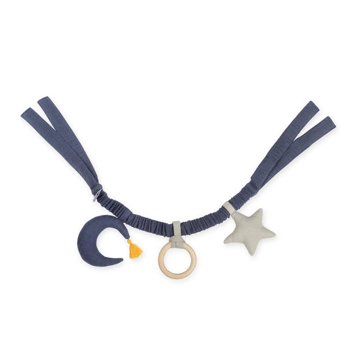 Navy Moon And Star Stroller Mobile Toy
