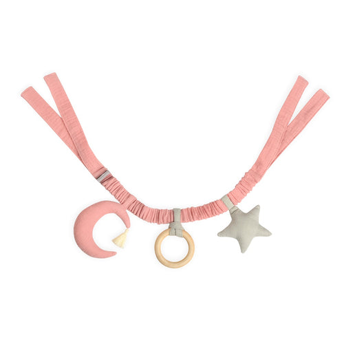 Pink Moon And Star Stroller Mobile Toy