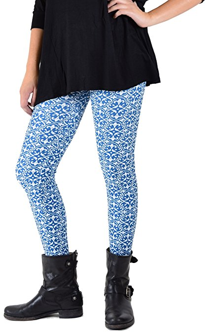 Blue Vogue Plus Size Leggings - Home Goods Galore