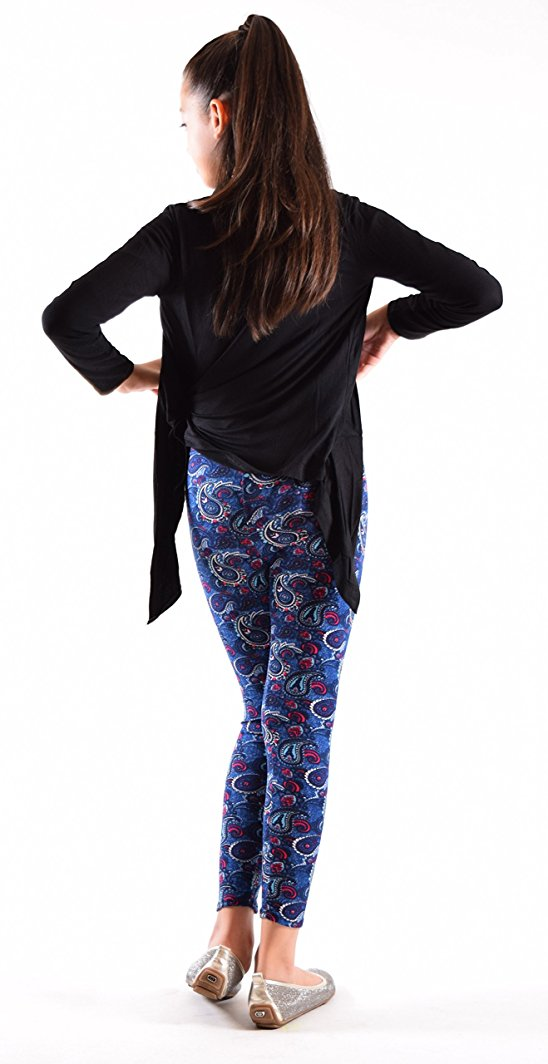 Girls Fun Printed Leggings- Ethenic Diversity - Home Goods Galore