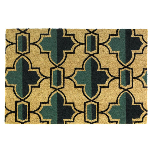 Viola Two-Tone Geometric Coir Door Mat