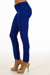 5 Pocket Slim Fit Skinny Pants-Royal