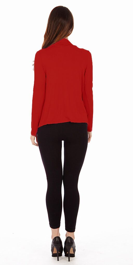 Red Criss Cross Cardigan Sweaters - Home Goods Galore