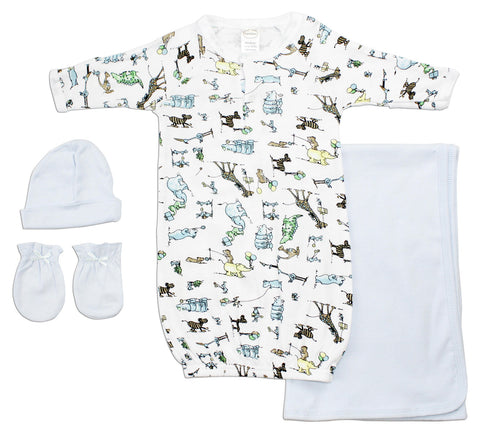 Bambini Neutral Newborn Baby 7 Pc Layette Baby Shower Gift Set