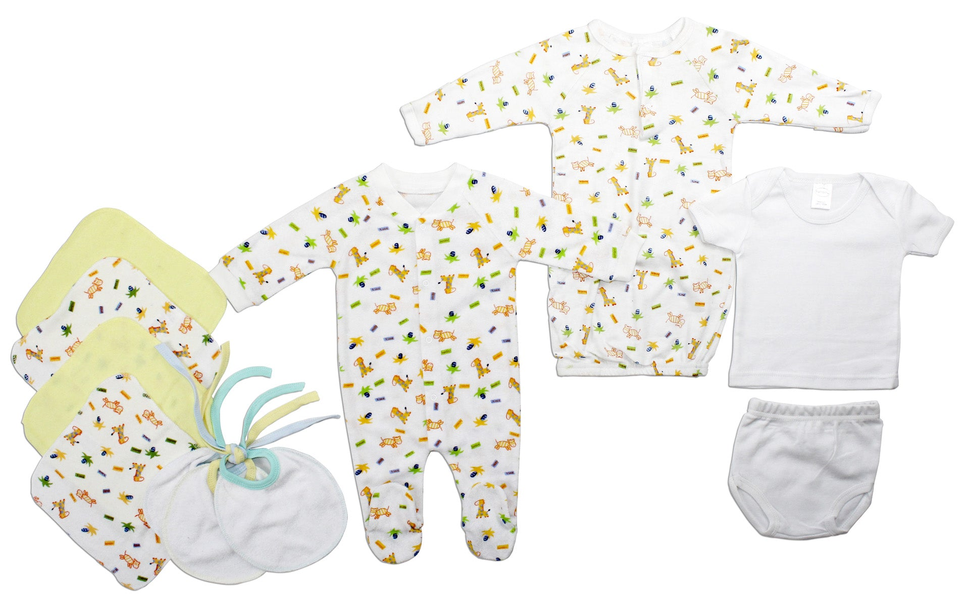 Bambini Neutral Newborn Baby 11 Pc Layette Baby Shower Gift Set