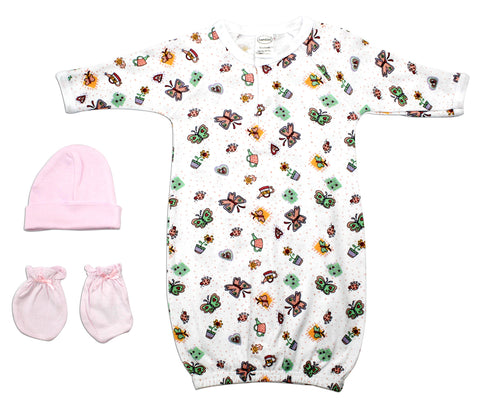 Bambini Neutral Newborn Baby 8 Pc Layette Baby Shower Gift Set