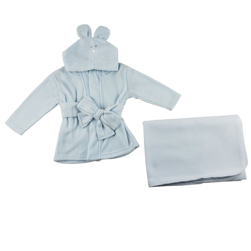 Fleece Robe and Blanket - 2 Pc Set