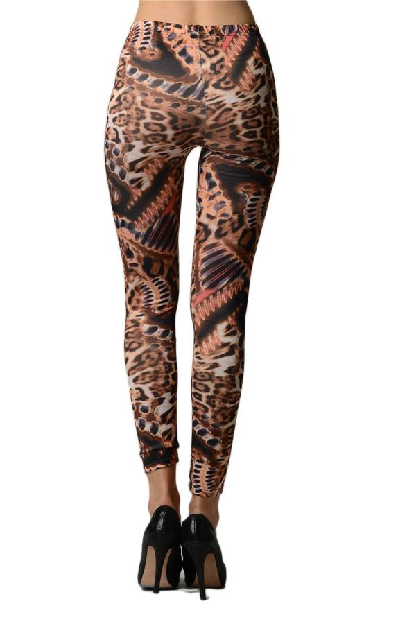 Abstract Animal Print Leggings - Home Goods Galore