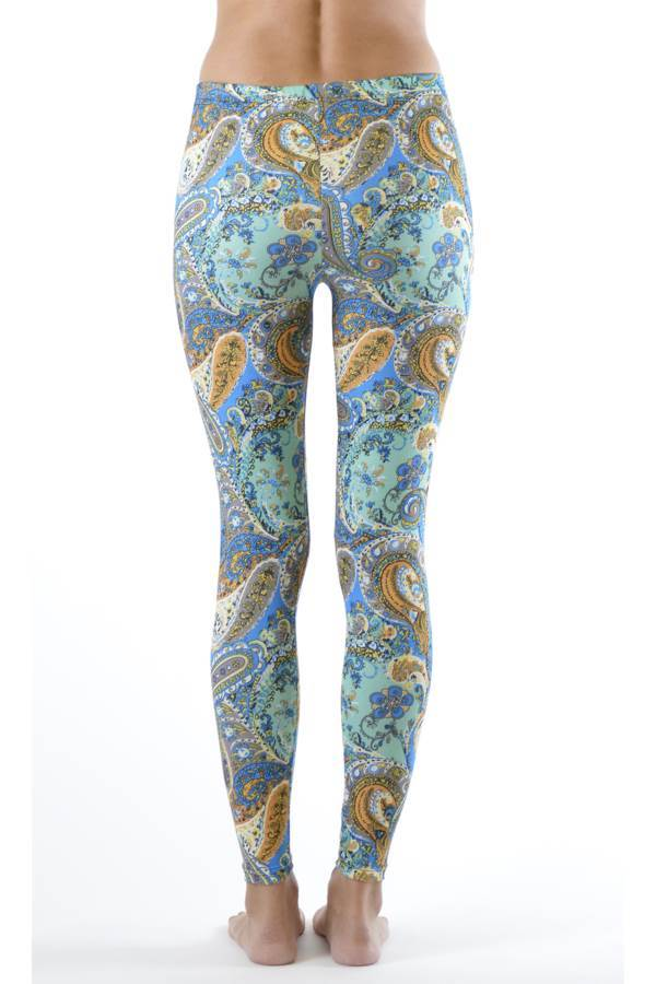 Baby Blue Ivy Paisley Ankle Leggings - Home Goods Galore