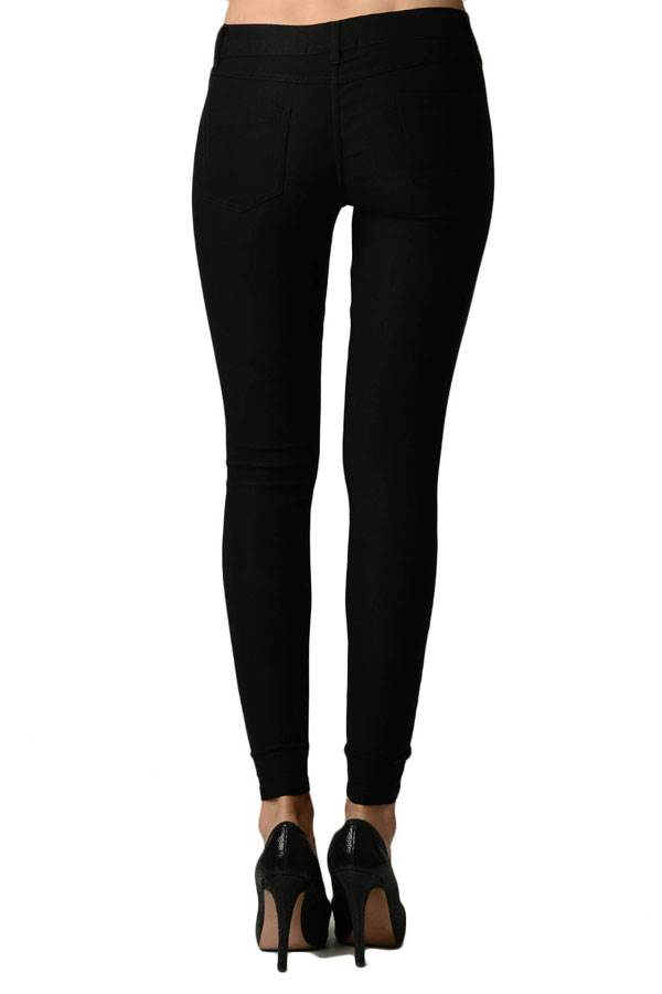 Black Color Tight Women's Jeggings - Home Goods Galore
