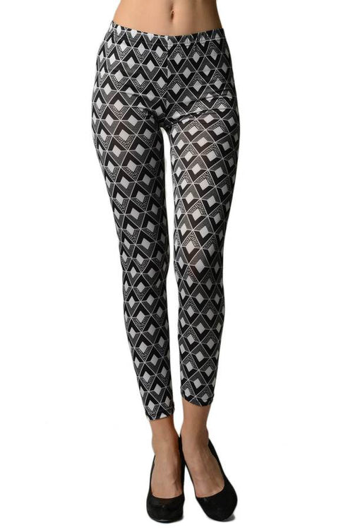 Black Diamond Ankle Leggings - Home Goods Galore