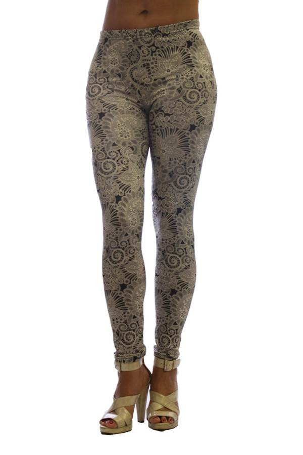 2 Pack Fashion Print Women's Lace and Diamond Legging - Home Goods Galore