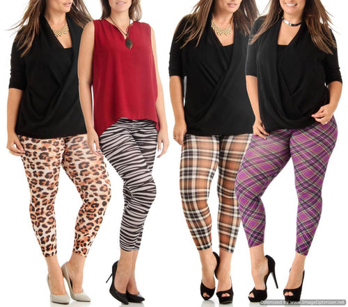 4 Pack Leggings-DLP-033/DLP-041/DLP-062/GBP-071-1X - Home Goods Galore