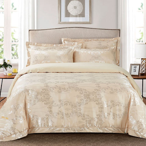 Duvet Cover Set, Queen size Pictorial Bedding, Dolce Mela - Peafowl DM704Q