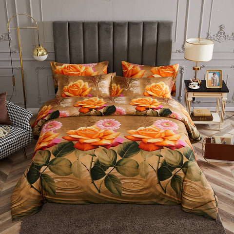 King Size Duvet Cover Set, 6 Piece Luxury Jacquard Bedding, Dolce Mela Ambassador DM716K