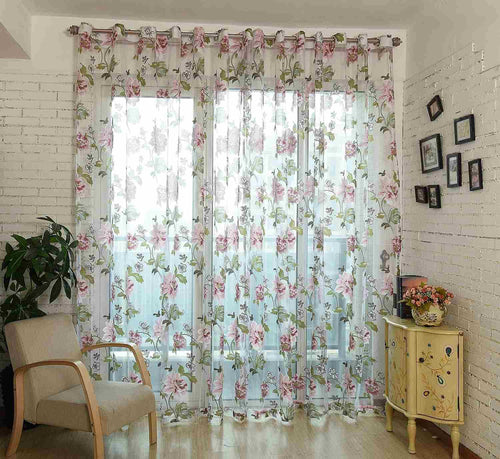 Sheer Curtains Window Treatments - Dolce Mela DMC471 - Home Goods Galore
