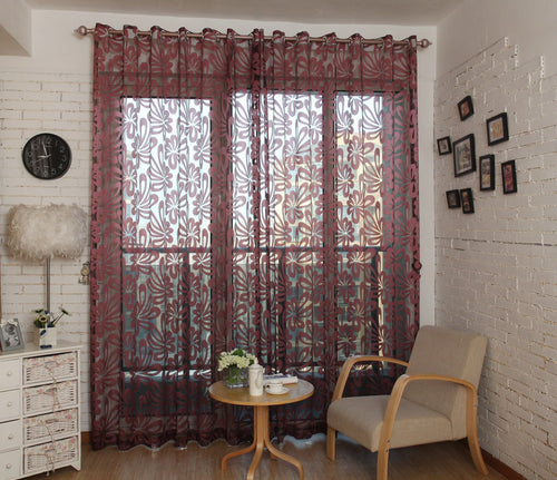 Sheer Curtains Window Treatments - Dolce Mela DMC472 - Home Goods Galore