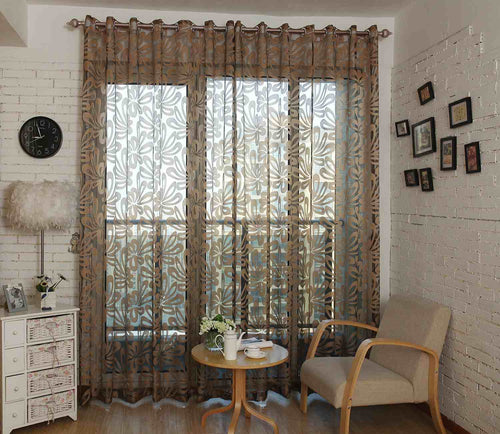 Sheer Curtains Window Treatments - Dolce Mela DMC473 - Home Goods Galore