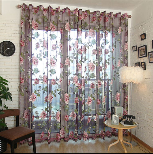 Sheer Curtains Window Treatments - Dolce Mela DMC474 - Home Goods Galore