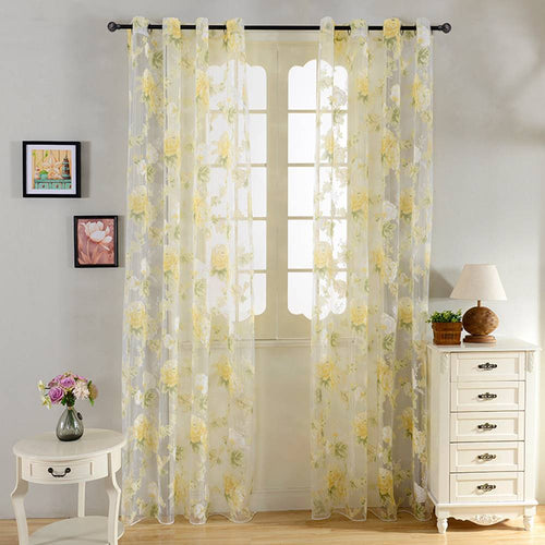 Sheer Curtains Window Treatments - Dolce Mela DMC476 - Home Goods Galore