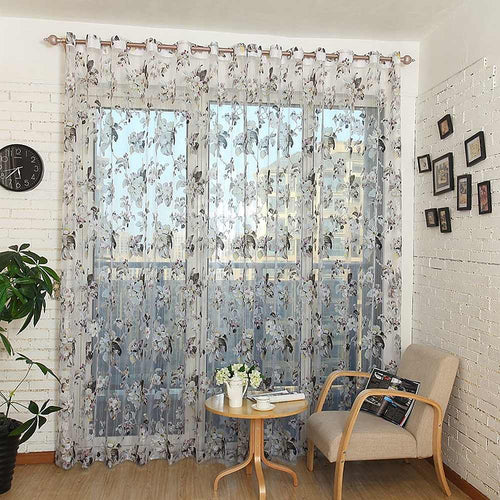 Sheer Curtains Window Treatments - Dolce Mela DMC477 - Home Goods Galore