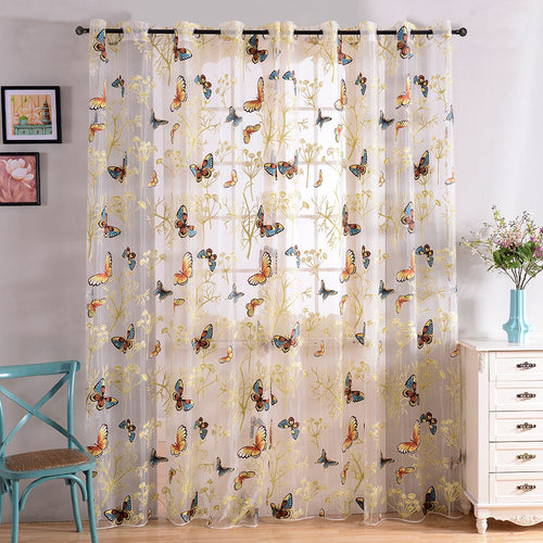 Sheer Curtains Window Treatments - Dolce Mela DMC484 - Home Goods Galore