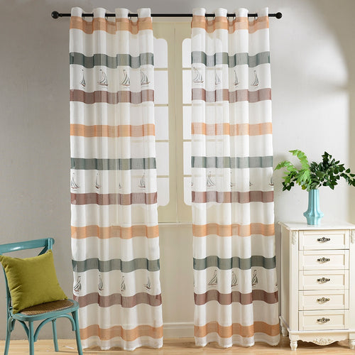 Sheer Curtains Window Treatments - Dolce Mela DMC486 - Home Goods Galore