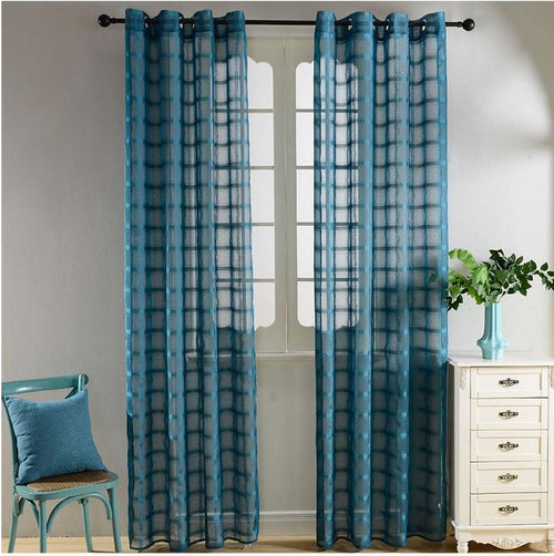 Sheer Curtains Window Treatments - Dolce Mela DMC490 - Home Goods Galore