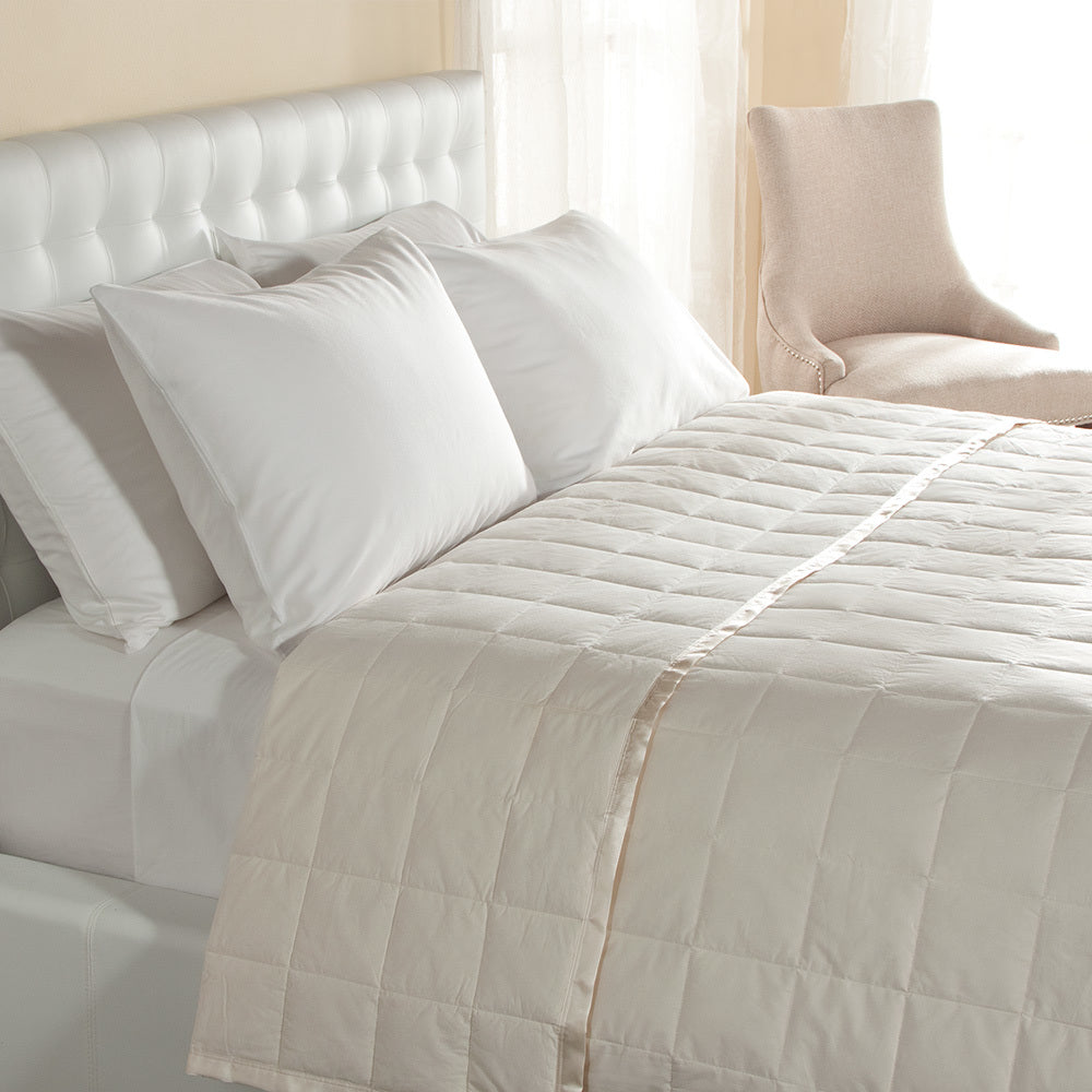 230 TC SATIN TRIM DOWN BLANKET - Home Goods Galore