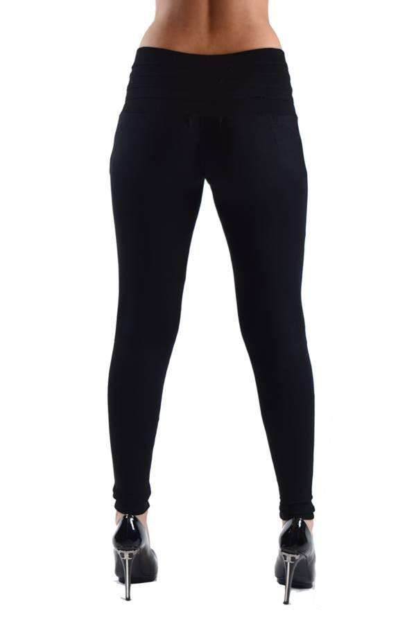 Black High Waisted Side Button Jeggings - Home Goods Galore